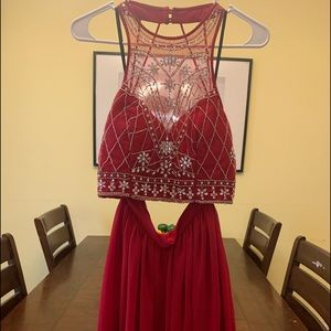 2 Piece Ford dress red